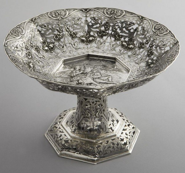 23: German .800 silver compote