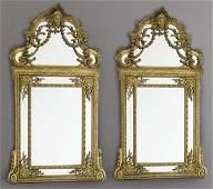 166: Pr. French Regence style gilt mirrors