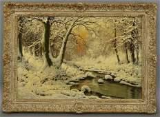"""Laszlo Neogrady, """"Winter Landscape"""","""