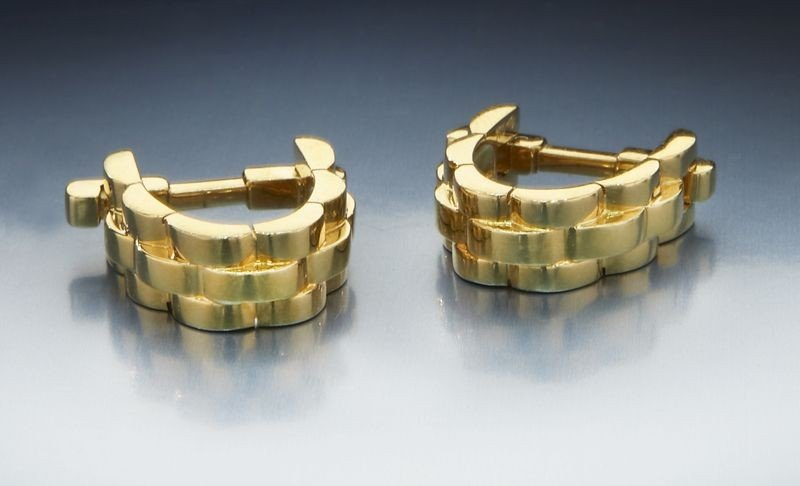 2: Pr. Cartier 18K gold link cuff links