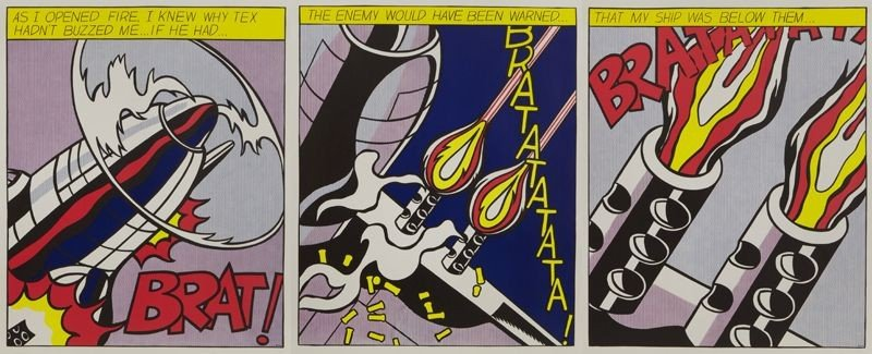 """20: Roy Lichtenstein color lithograph, """"As I Opened"""