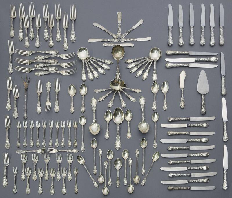 89: 117 Pcs. Gorham sterling Paris pattern flatware,