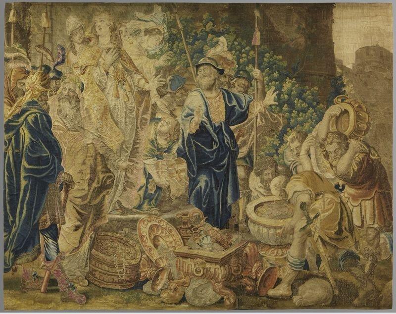 153: Flemish 18th C. tapestry depicting Judith