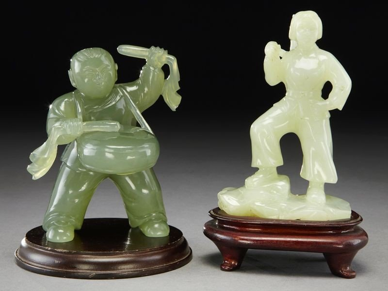 22: (2) Chinese Cultural Revolution serpentine figures