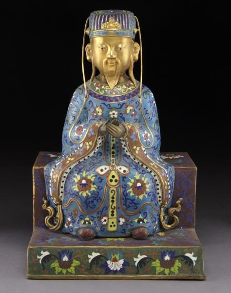 23: Chinese cloisonne immortal,