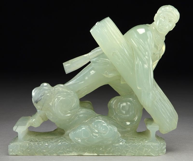 403: Chinese Cultural Revolution carved serpentine jade