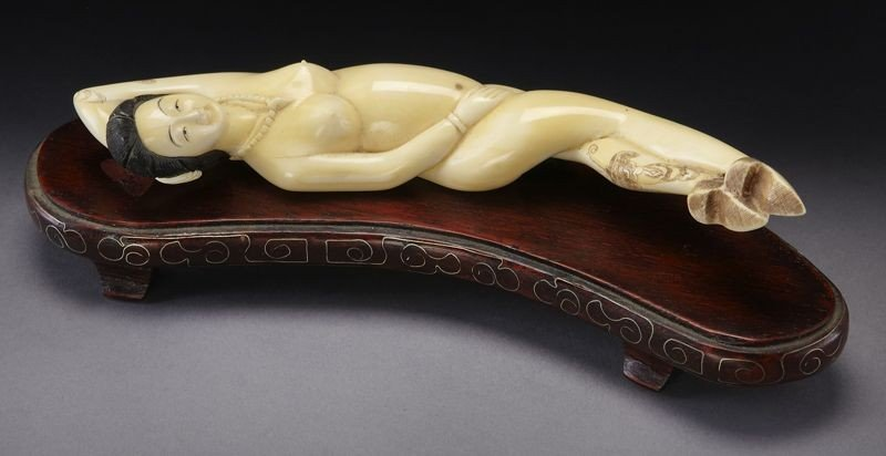 413: Chinese carved ivory Doctor's Lady,