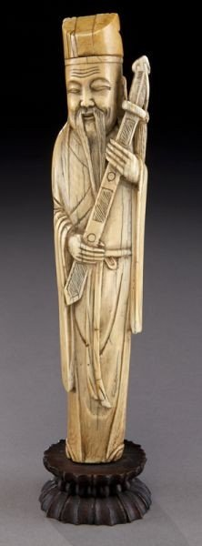 416: Chinese carved ivory figure