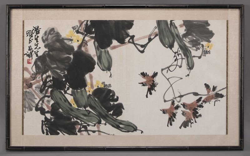419: Chinese watercolor painting by Chen Dan Cheng,