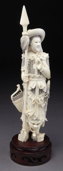 420: Chinese carved ivory figure depicting Mulan.