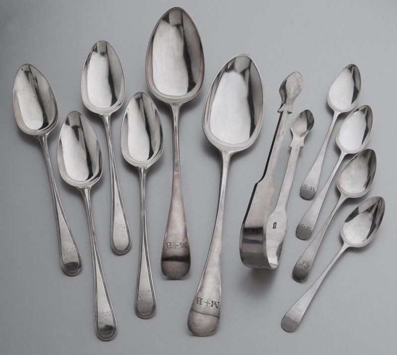 7: (11) Bateman sterling silver flatware pieces