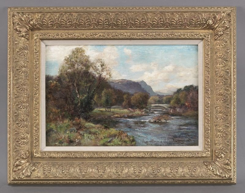 23: Richard Gay Somerset oil painting on canvas,