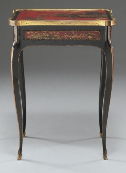 27: English chinoiserie decorated table,