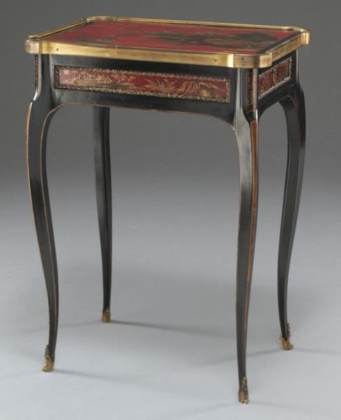27: English chinoiserie decorated table, - 3