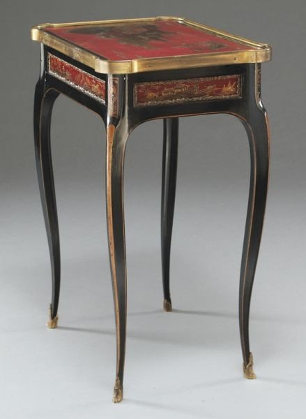 27: English chinoiserie decorated table, - 4