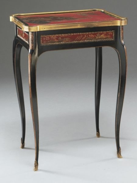27: English chinoiserie decorated table, - 5