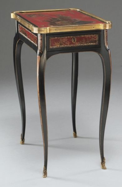 27: English chinoiserie decorated table, - 6