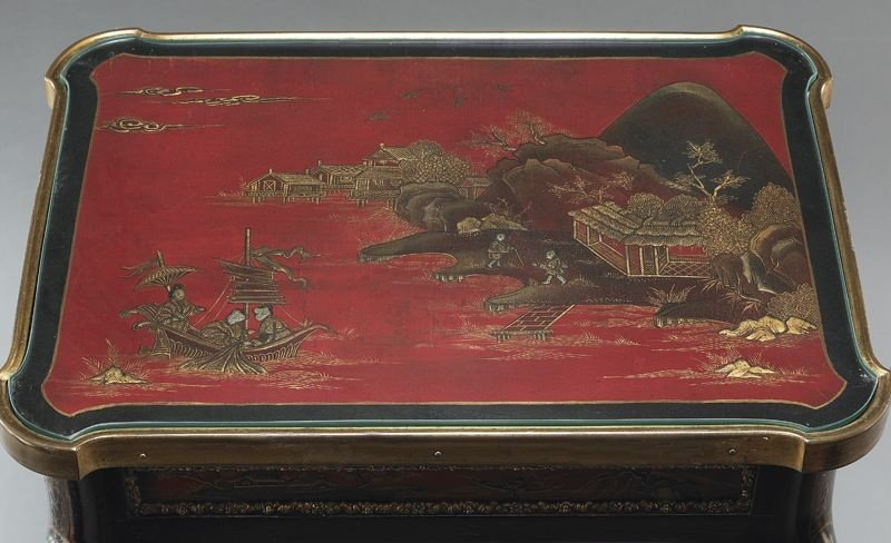 27: English chinoiserie decorated table, - 7