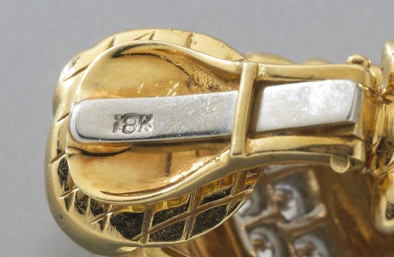 47: 18K gold and diamond hoop earrings - 3