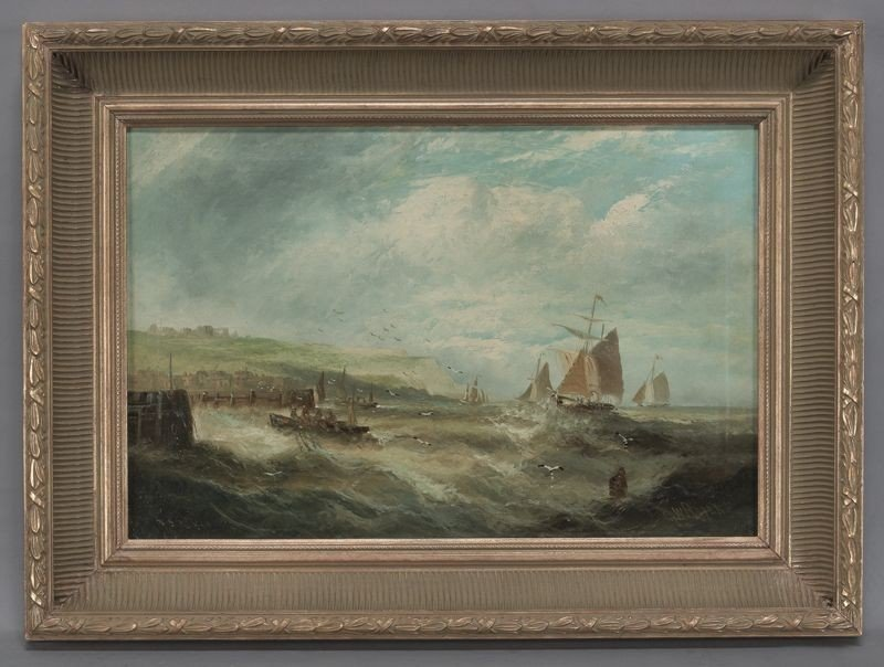 191: William P. Rogers oil painting on canvas