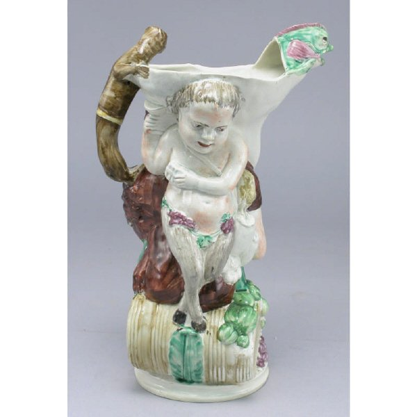 166: A Bacchus jug modeled by John Voyez working under