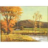 168: Signed Robert Wood oil on canvas board titled