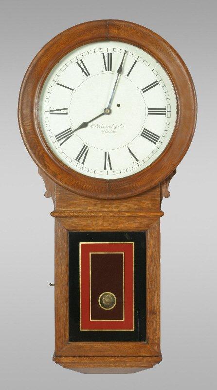 191: E. Howard model #70-16 regulator wall clock