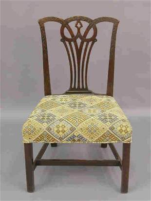 Chippendale style side chair, substantial