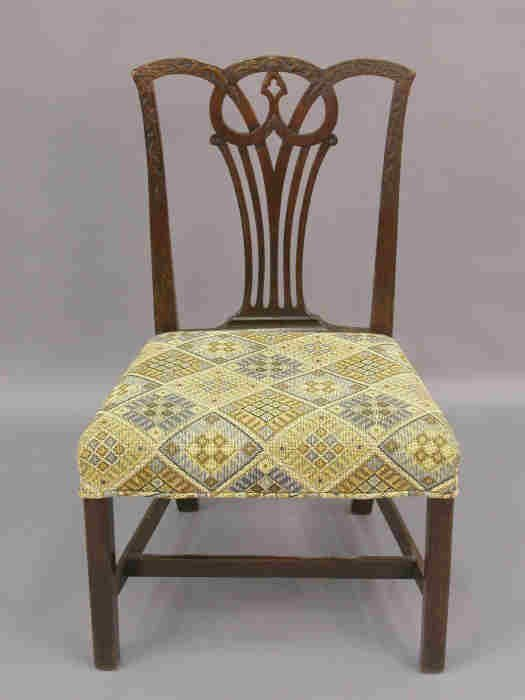 8: Chippendale style side chair, substantial