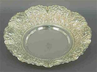 Sterling Repouse Center Bowl, marked ster
