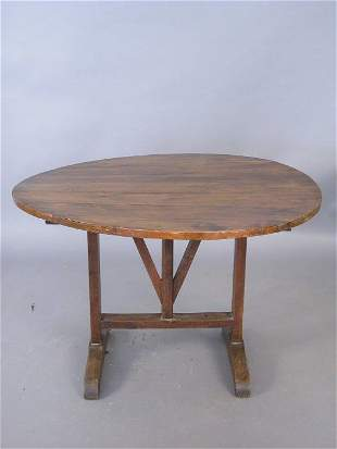 19th century French wine tasting table. 4