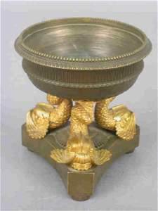 17: Swedish Empire bronze bonbonnie with thre