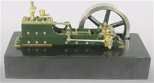 """Model steam engine with 5"""" fly wheel. 5 1"""