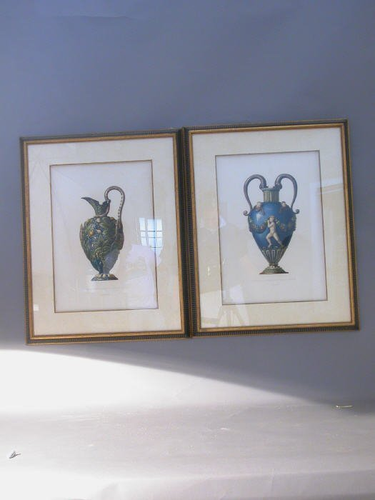 24: Pair of Palisey prints in matching painte