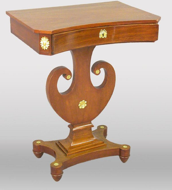 31: Karl Johan mahogany side table with one d
