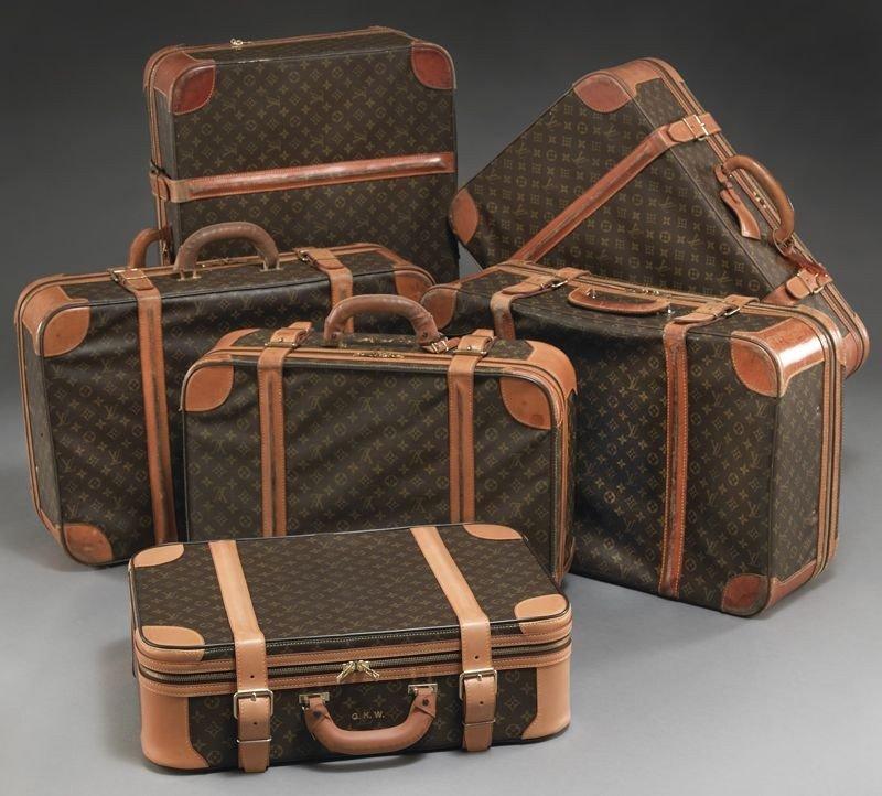 3: Set of 6 Louis Vuitton classic monogram suitcases
