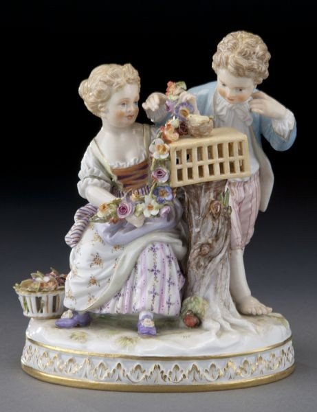 """6: Meissen figural group emblematic of """"Spring"""","""