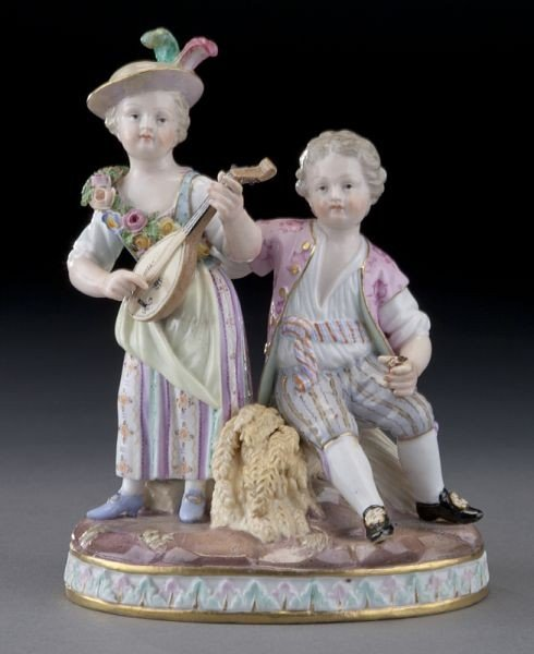 """18: Meissen figural group emblematic of """"Summer"""","""