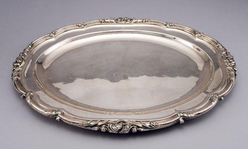 22: Matthew Boulton old Sheffield plate tray