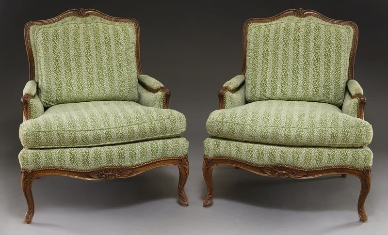 36: Pr. French Provincial style bergere chairs