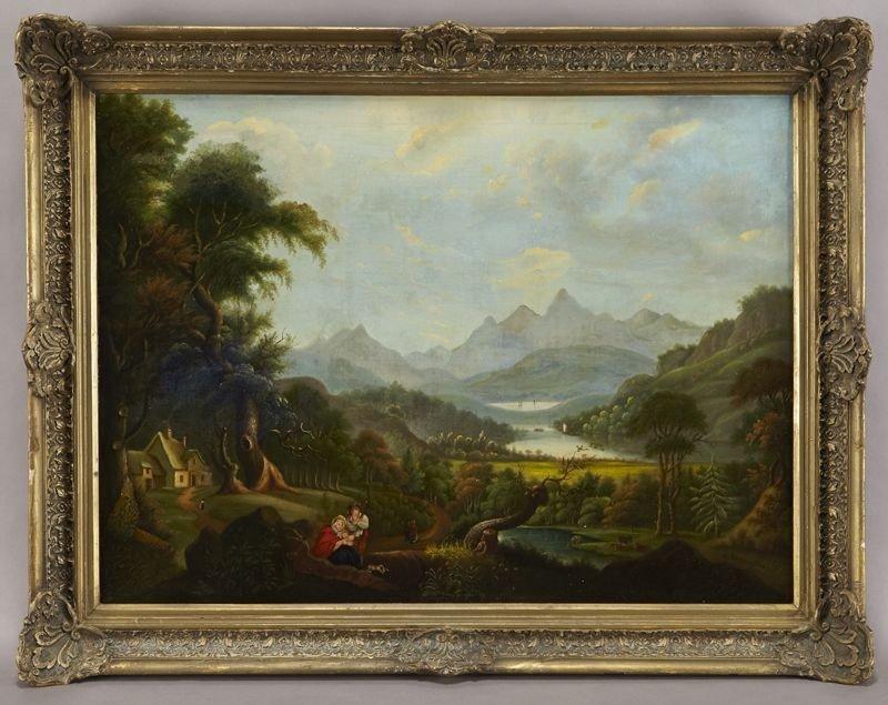 "38: Ethel A. Farrington, ""Untitled"" oil painting on"