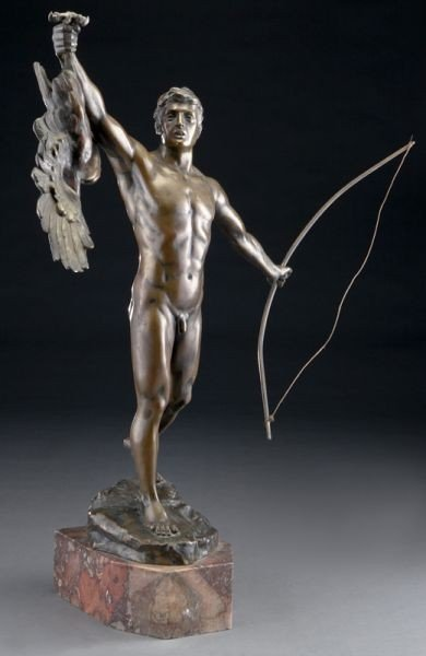 41: Bronze figure of a nude man