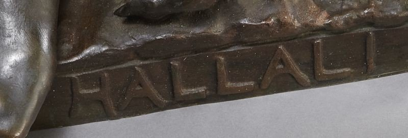 "53: Eugene Marioton, ""Hallali"" bronze sculpture - 10"
