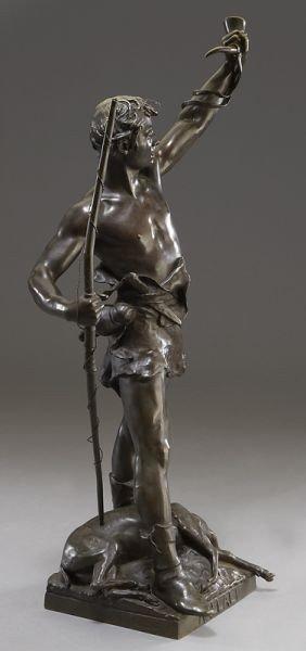 "53: Eugene Marioton, ""Hallali"" bronze sculpture - 2"