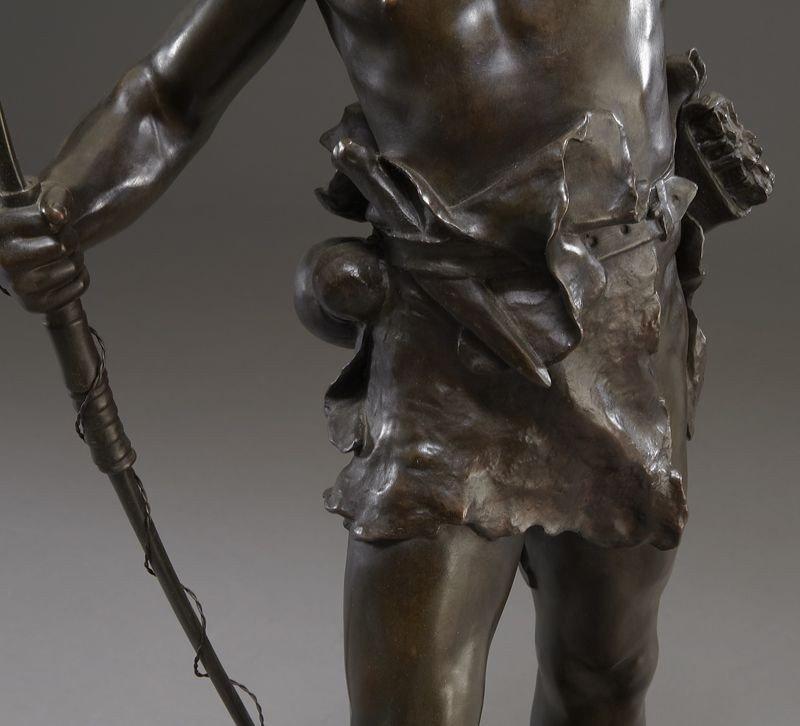"53: Eugene Marioton, ""Hallali"" bronze sculpture - 7"