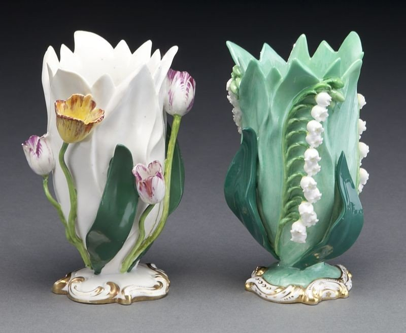 272: (9) English and Continental porcelain tulip vases, - 8