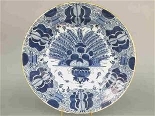 Delft plate- De Porseleyne Klea on back