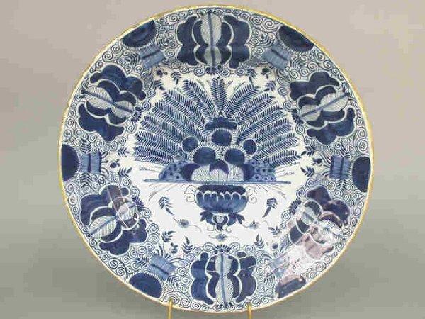 503: Delft  plate- De Porseleyne Klea on back