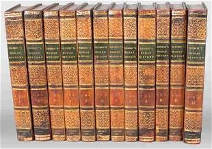 "Set of 12 volumes of ""Gibson's Roman His"