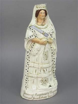 Staffordshire figural portrait of Queen